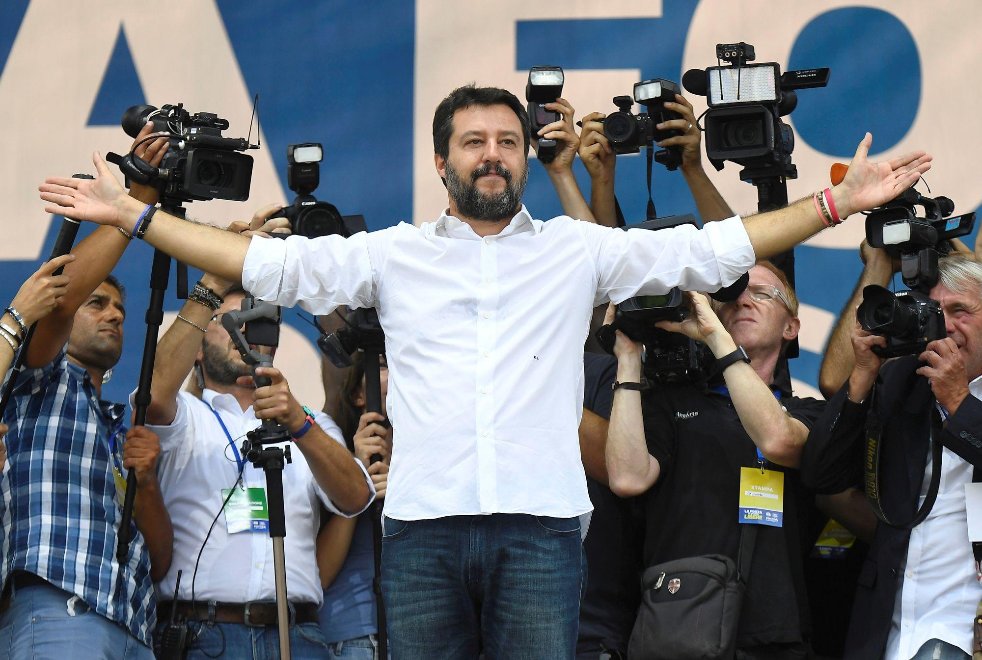 Matteo Salvini part en guerre contre le nouveau gouvernement italien