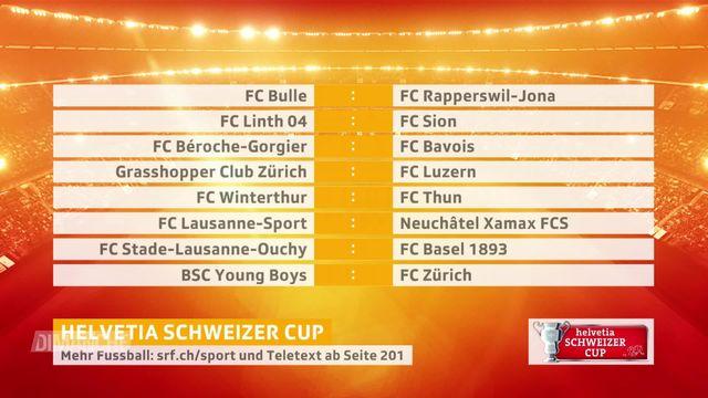 Football, Coupe de Suisse: les affiches des 8e de finale [RTS]