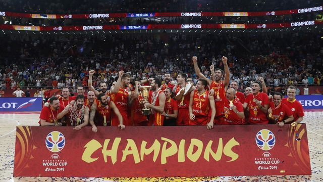 La joie des Espagnols, champions du monde pour la deuxième fois. [Roman Pilipey - Keystone]