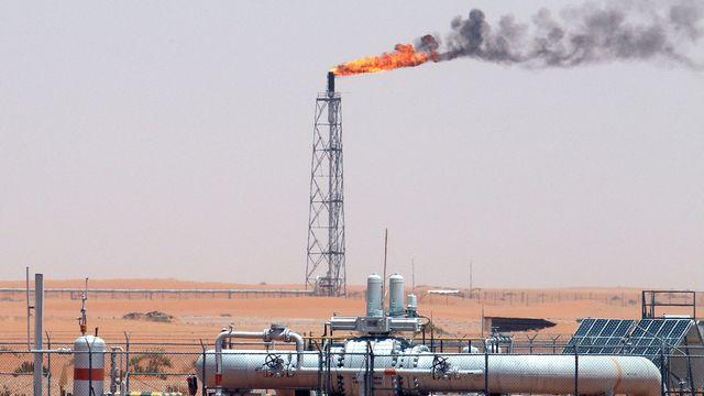 Une image des champs de pétroles de Khurais, dans le royaume d'Arabie Saoudite. [Ali Haider - EPA/Keystone]