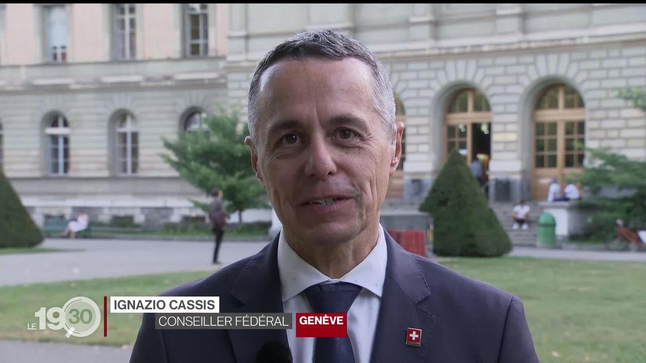 """Ignazio Cassis : """"On est ici pour souligner l'importance du multilatéralisme"""" [RTS]"""