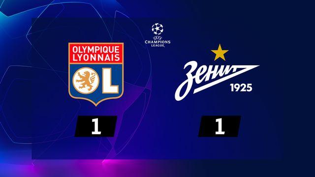 1re j. Gr.G, Lyon - Zenit St-Pét. (1-1): résumé de la rencontre