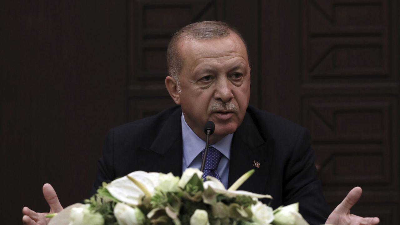 Recep Tayyip Erdogan lors du sommet d'Ankara sur la Syrie, ce 16 septembre 2019. [Keystone]
