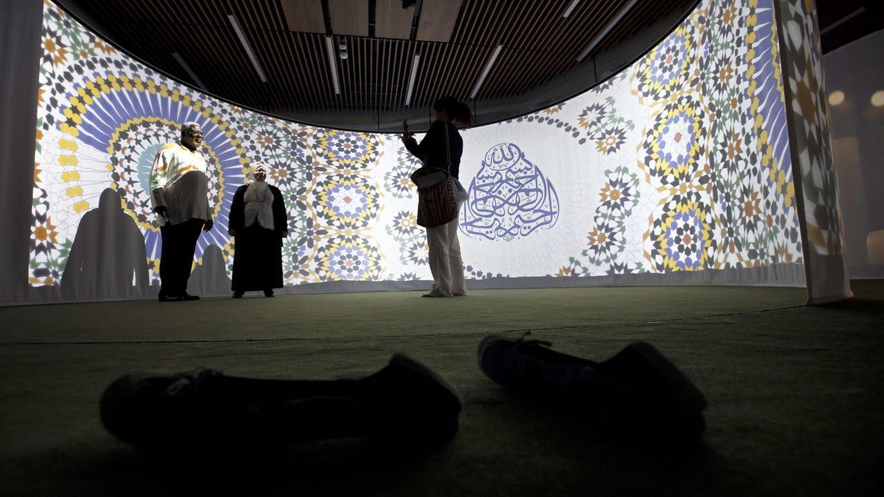 Le sous-espace musulman du nouvel espace de ressourcement interreligieux des Hôpitaux Universitaires de Genève (HUG). [Salvatore Di Nolfi - Keystone]