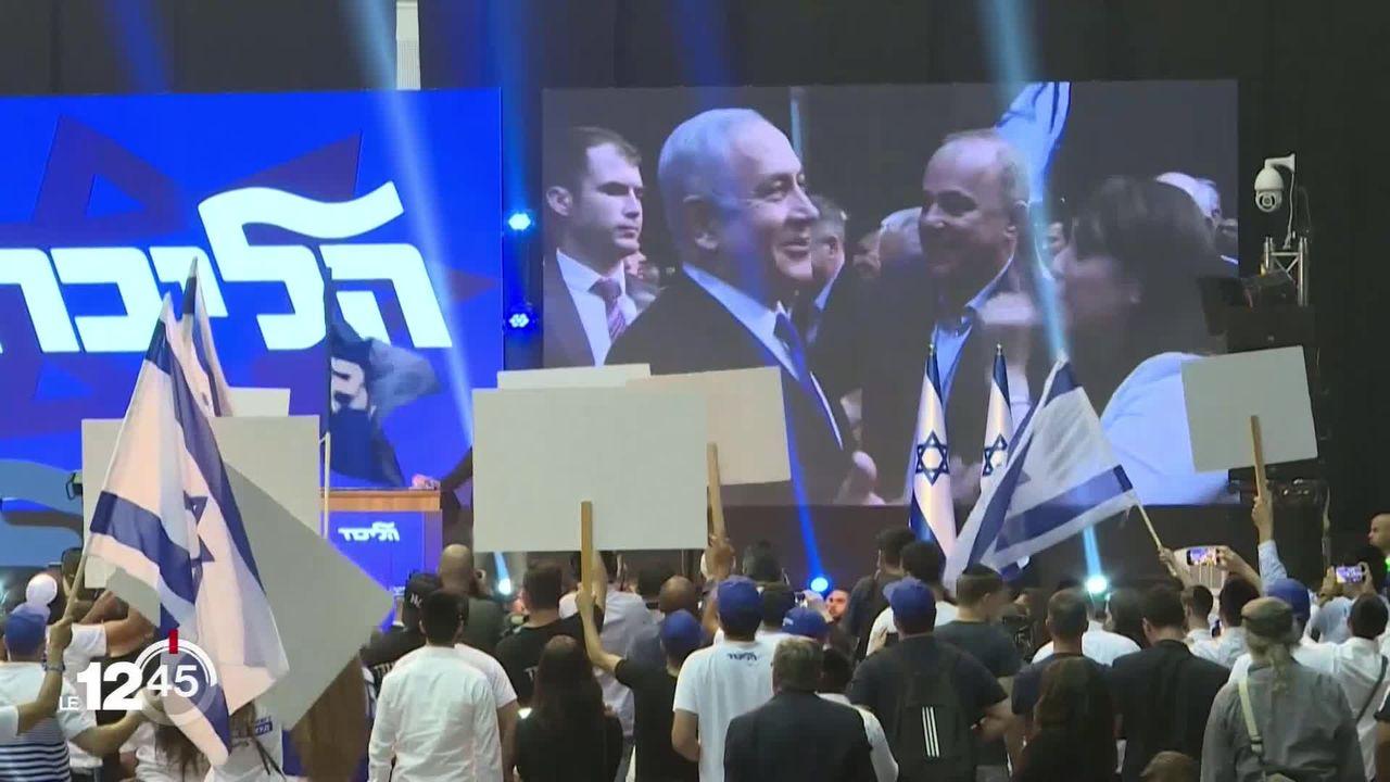 Israël dans l'impasse politique. Benyamin Netanyahou et Benny Gantz au coude à coude. [RTS]