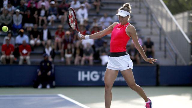 Viktorija Golubic retrouve les demi-finales d'un tournoi WTA après deux ans d'absence. [Michael Owens - Keystone]