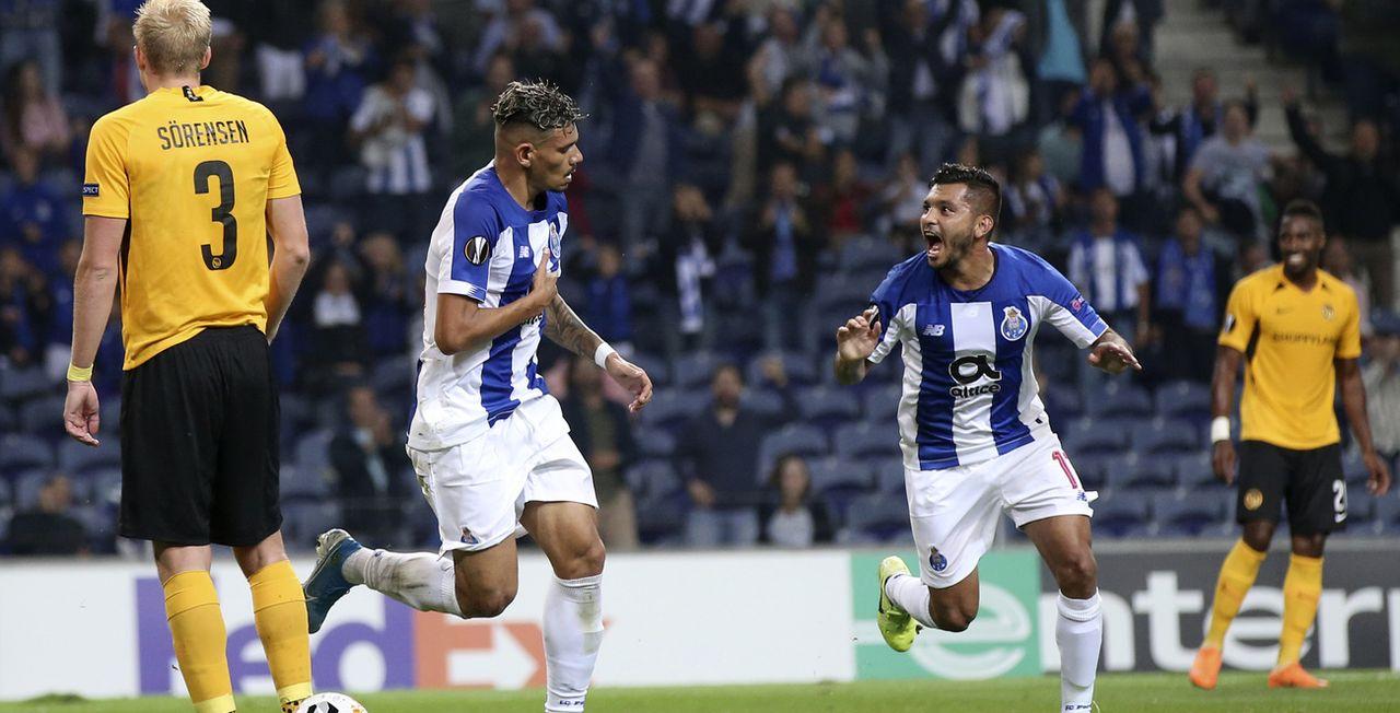 Les Portugais jubilent après l'ouverture du score. [Luis Vieira - Keystone]