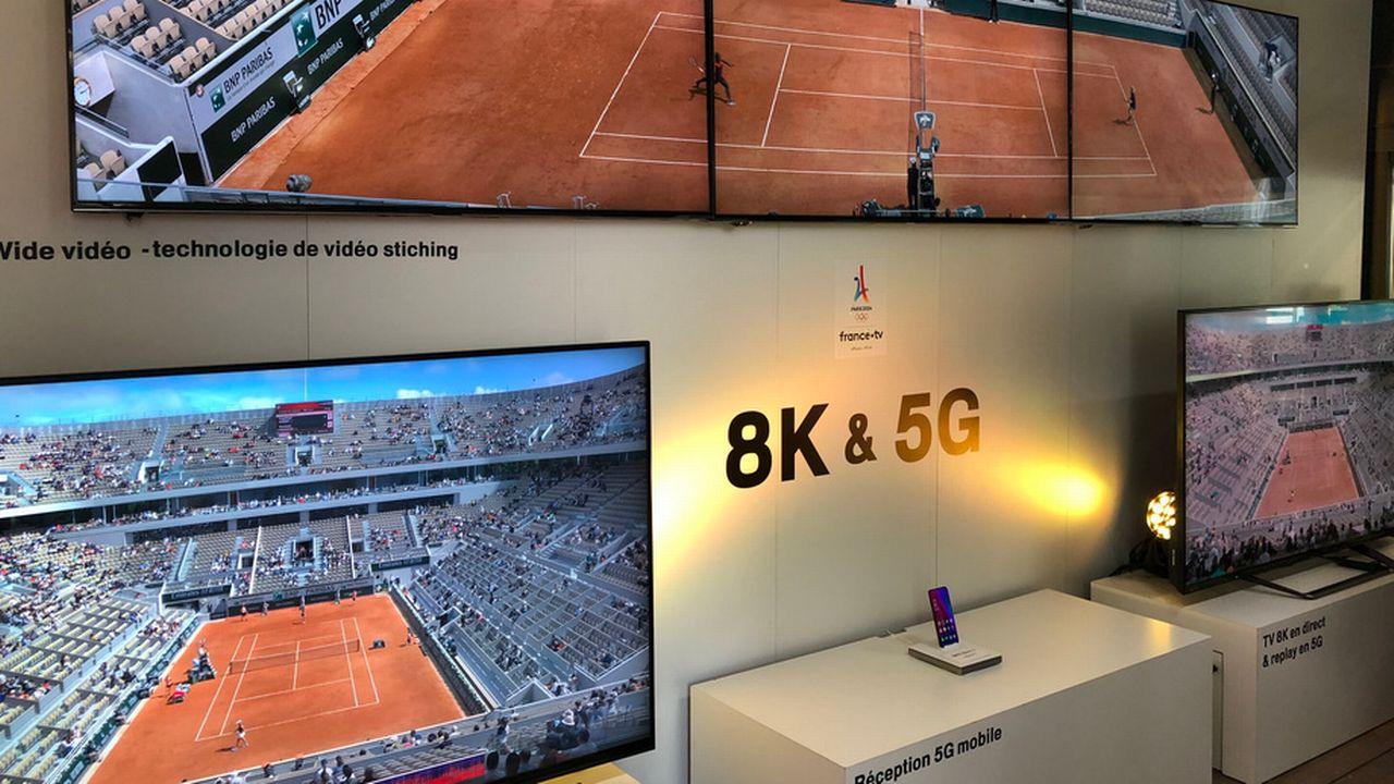 La télévision publique française a diffusé des matchs de tennis en 8K, avec la technologie 5G. [France Télévisions]