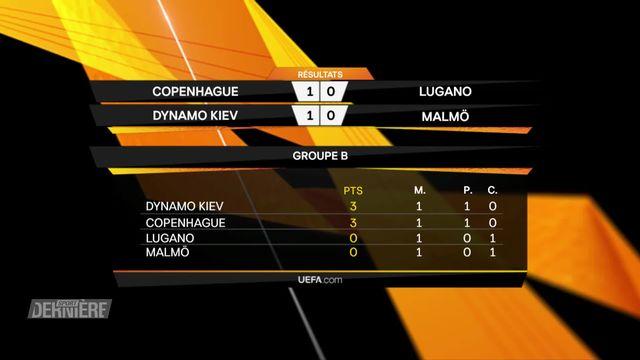 Europa League, 1e journée: Groupe B,  le classement [RTS]