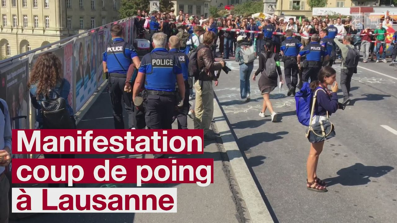 Exctinction rebellion lausanne [RTS]