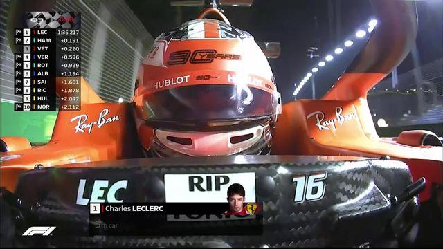 GP de Singapour, Q3: la pole pour Leclerc (MON) [RTS]
