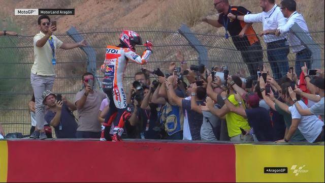 GP d'Aragon (#14), MotoGP: Marquez (ESP) s'impose devant Dovizioso (ITA) et Miller (AUS) [RTS]