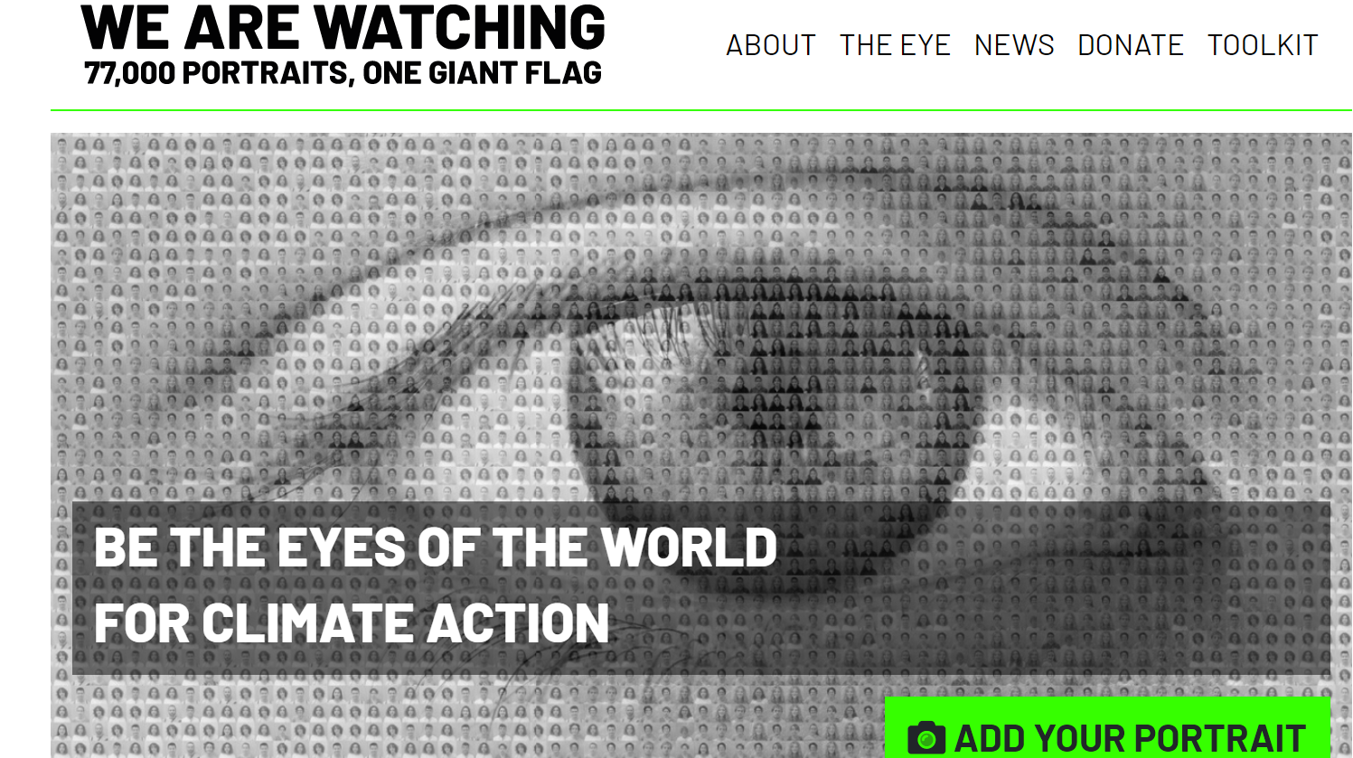 home page du site wearewatching.org