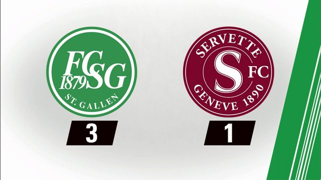 7e journée: St-Gall - Servette (3-1) [RTS]