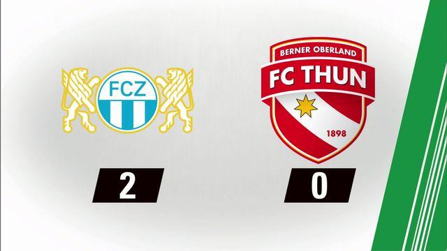 7e journée: Zurich - Thoune (2-0) [RTS]