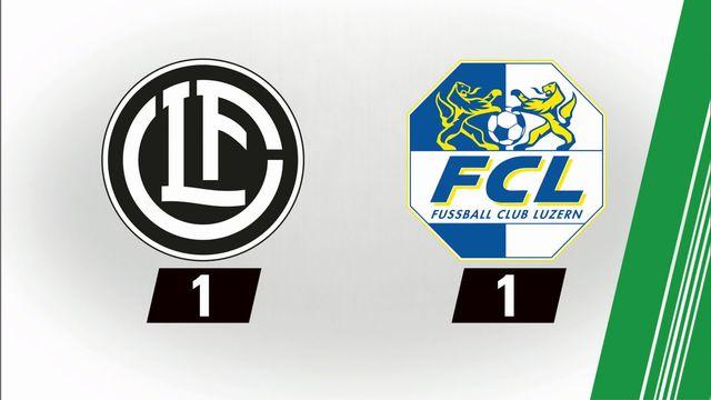 7e journée: Lugano - Lucerne (1-1) [RTS]