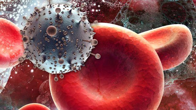 Virus du sida et cellules. amuzica Depositphotos [amuzica - Depositphotos]