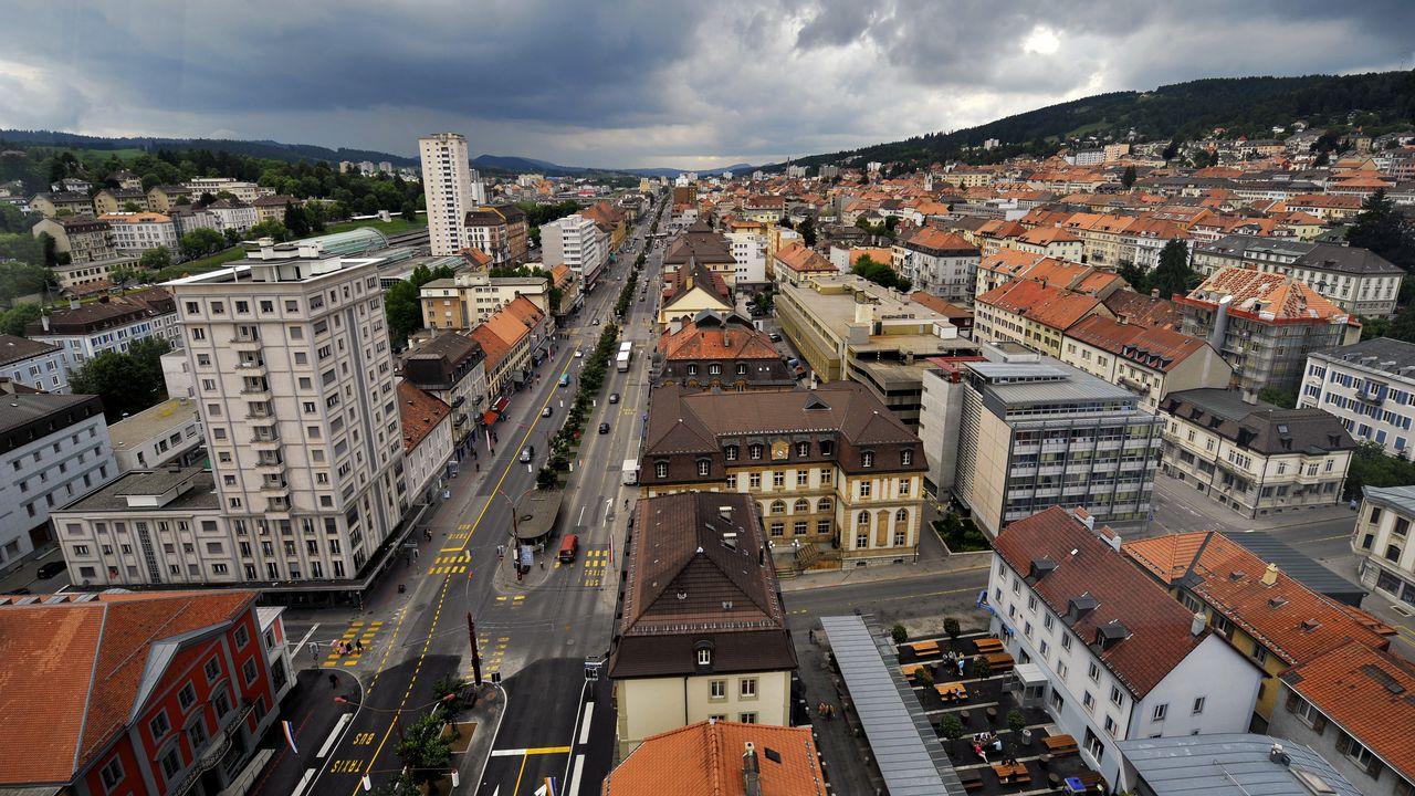 La Chaux-de-Fonds proposera des visites audioguidées de la ville. [Fabrice Coffrini - AFP]