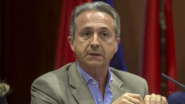 Battista Ghiggia est le candidat de la Lega et de l'UDC pour le Conseil des Etats au Tessin. [Samuel Golay - Ti-Press/Keystone]