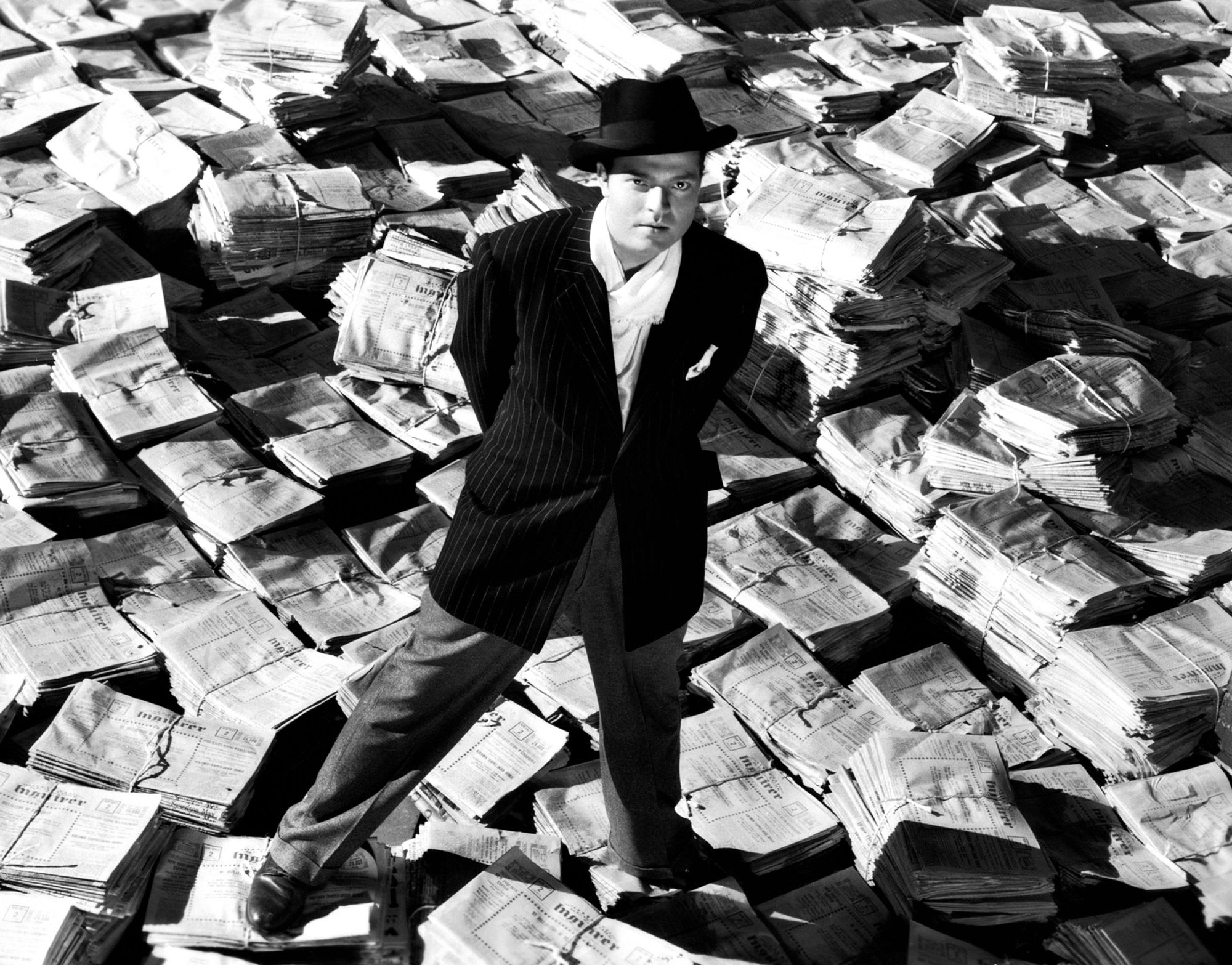 "Orson Welles dans son film ""Citizen Kane""."