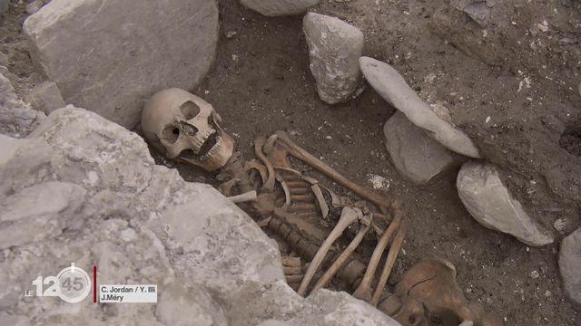 Les vestiges d'une église funéraire du Haut Moyen Age mis au jour à Saint-Maurice [RTS]