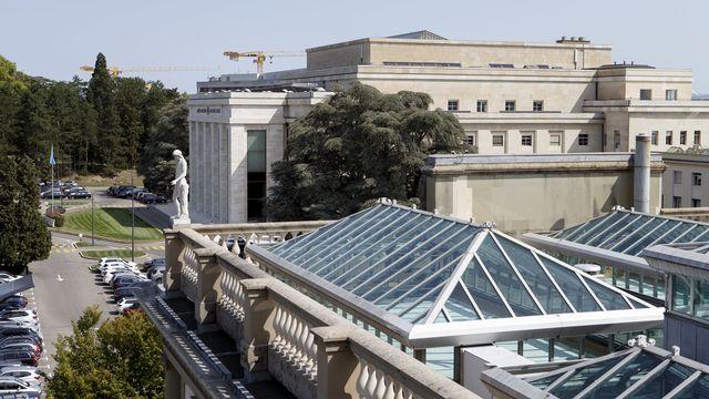 Le bâtiment principal du Palais des Nations à Genève. [Salvatore Di Nolfi - Keystone]
