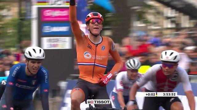 Course U23 messieurs: Victoire de N. Eekhoff (NED) devant S. Battistella (ITA) et S. Bissegger (SUI) [RTS]
