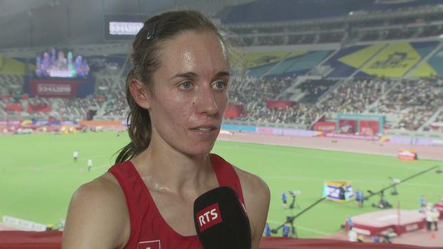 800m dames: interview d'après course de Lore Hoffmann (SUI) [RTS]