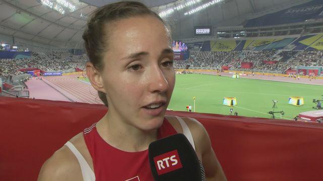 800m dames: Selina Büchel (SUI) au micro après sa 6e place [RTS]