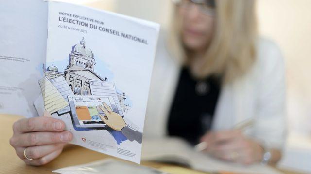 Des carnets de votes défectueux en Valais, des erreurs à Berne [Laurent Gillieron - Keystone]