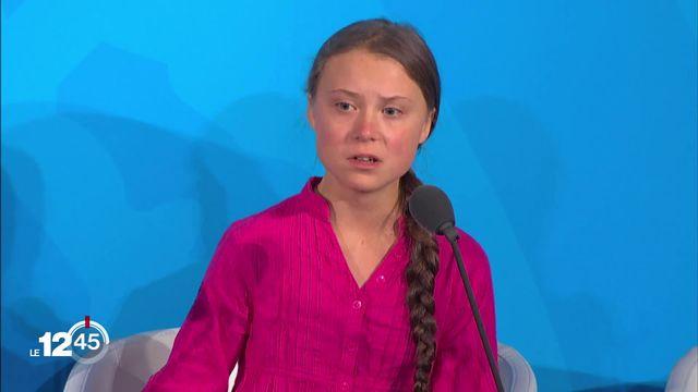 Greta Thunberg a attaqué son auditoire et laissé parler son émotion cette semaine. Deux spécialistes analysent son discours [RTS]
