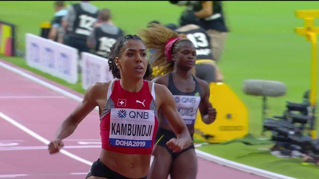 100m dames: Mujinga Kambundji (SUI) remporte sa série et accède aux demi-finales [RTS]