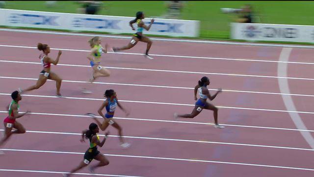 1-4, 100m dames: Salomé Kora (SUI) termine 6e et est éliminée [RTS]