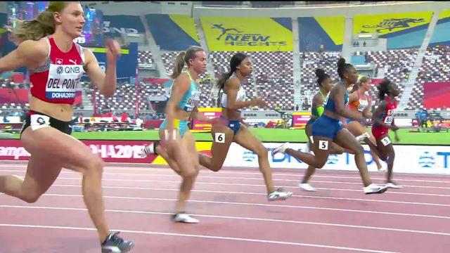 1-4, 100m dames: Ajla Del Ponte (SUI) se classe 6e et ne se qualifie pas pour la suite du tournoi [RTS]