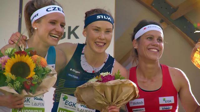 Sprint Knock-Out, dames: Tove Alexandersson (SUE) remporte la course devant Tereza Janosikova (CZE) et Elena Roos (SUI) [RTS]
