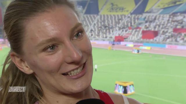 """Ajla Del Ponte (éliminée en séries du 100m): """"C'est le meilleur temps de ma deuxième partie de saison"""". [RTS]"""
