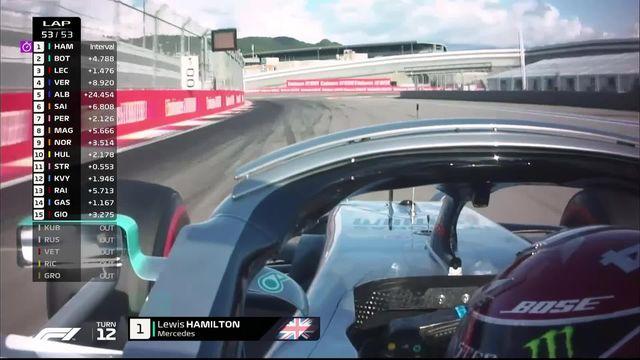 GP de Russie (#16): Lewis Hamilton (GBR) s'impose grâce à l'abandon de Sebastian Vettel (GER) [RTS]