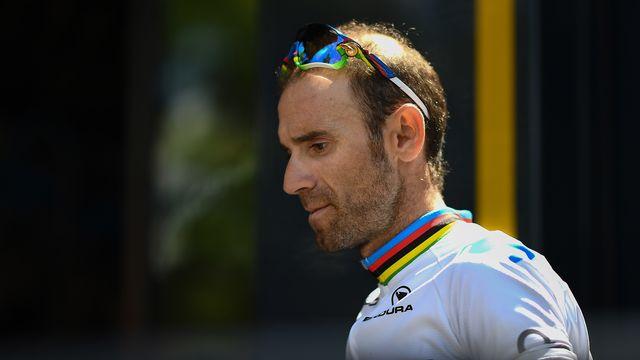 Valverde a jeté l'éponge à 83 km de l'arrivée. [Anne-Christine Poujoulat - AFP]
