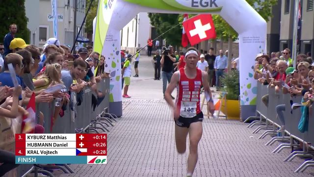 Finale sprint messieurs: Matthias Kyburz (SUI) 3e [RTS]