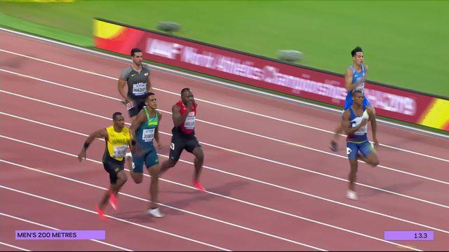 200m hommes: Wilson (SUI)  se qualifie grâce à une 3e place [RTS]