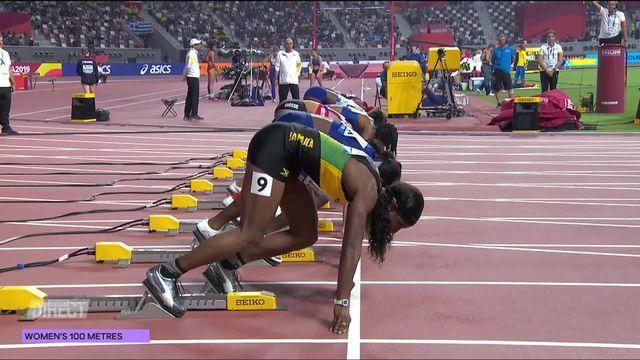 100m dames: Mujinga Kambundji (SUI) 3e de sa série [RTS]