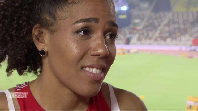 100m dames: interview de Mujinga Kambundji (SUI) après son élimination [RTS]