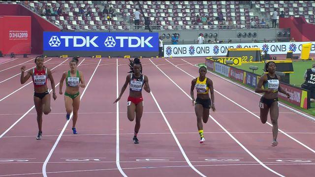200m dames: Sarah Atcho (SUI) finit 4e de sa série et est éliminée [RTS]
