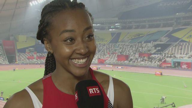 200m dames: la réaction de Sarah Atcho (SUI) après son élimination [RTS]