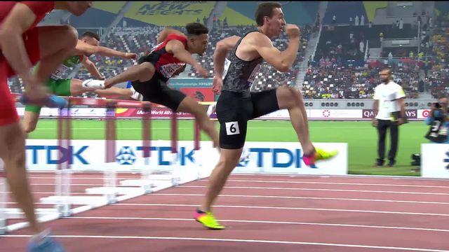 110m haies messieurs: Jason Joseph (SUI) égale son propre record et se qualifie pour les 1-2 [RTS]