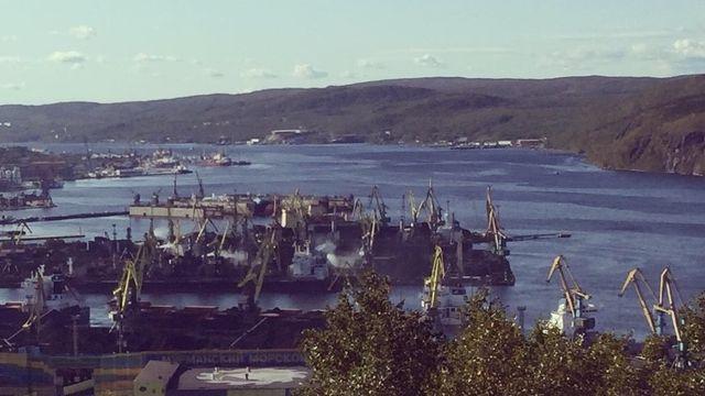 Le port de Mourmansk, en Russie. [Isabelle Cornaz - RTS]