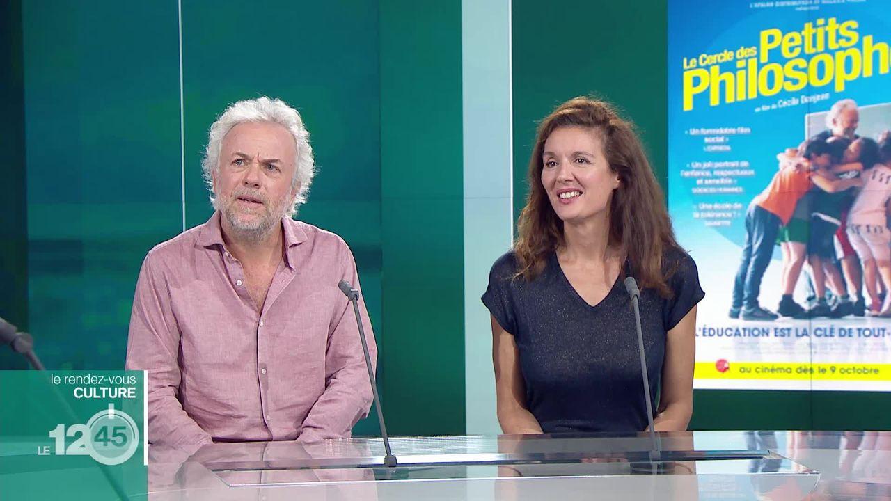 """Rendez-vous culture: Cécile Denjean et Frédéric Lenoir pour la sortie du documentaire """"Le Cercle des petits philosophes"""". [RTS]"""