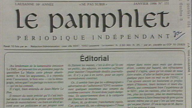 L'affaire Paschoud [RTS]