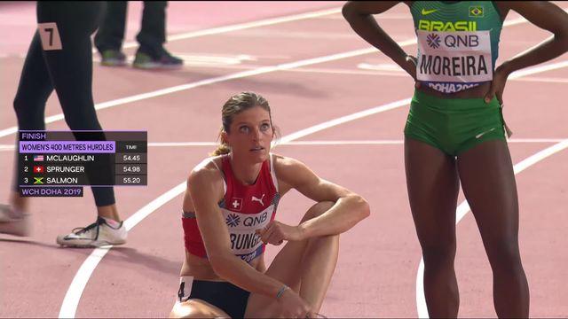 400m haies dames: Léa Sprunger (SUI) se qualifie pour les 1-2 [RTS]