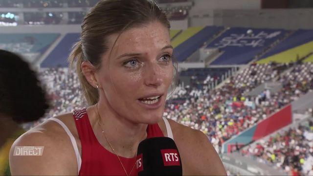 400m haies dames: Léa Sprunger (SUI) à l'interview après sa qualification [RTS]